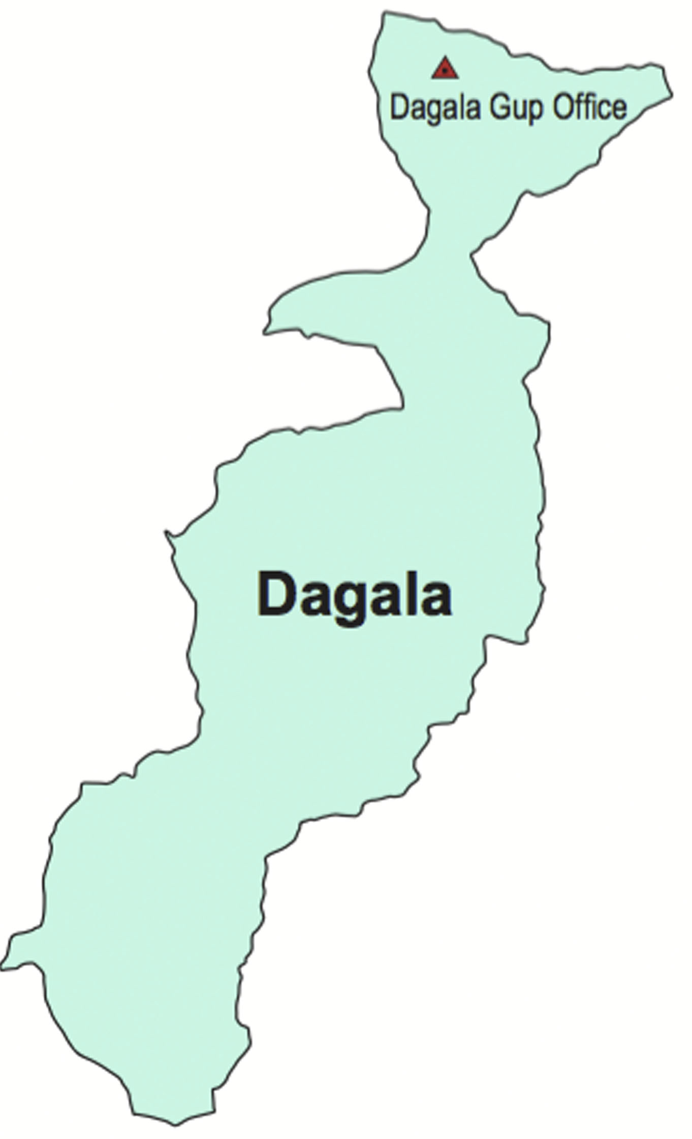 Dagala Gewog Map